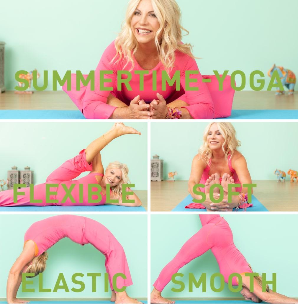Summertime-Yoga: flexible - soft - elastic - smooth