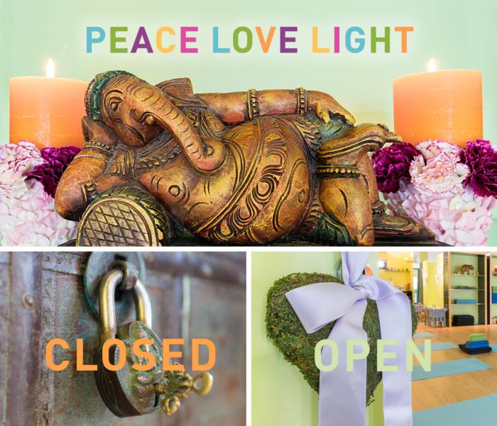 Peace Love Light Abwesenheit Dezember 2019